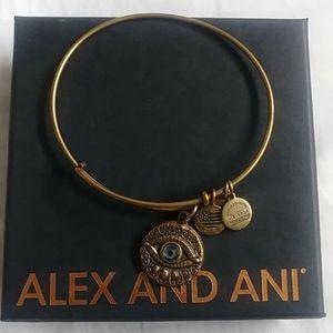 Alex&Ani Evil eye charm bangle bracelet